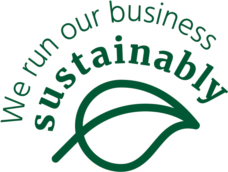 We run our business sustainably